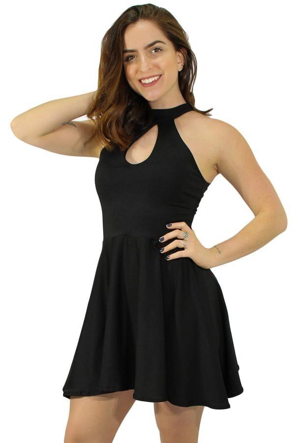 2f1dd029ed vestido feminino curto alcinha preto festas casamento barato. Carregando  zoom.