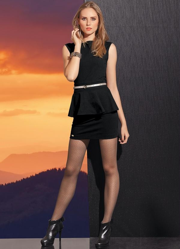 a8da7df2f5 vestido feminino curto peplum preto pronta entrega- quintess. Carregando  zoom.