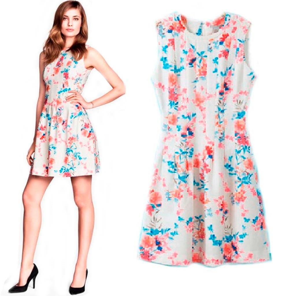 68dd242712 Vestido Feminino Floral Curto Vestidos Baratos Online - R  88