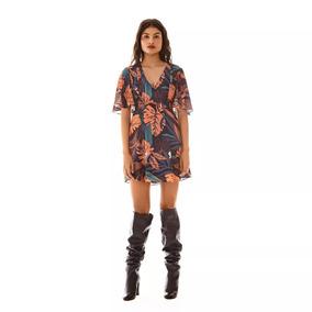 91717f3798 Vestido Evase Com Decote Em V no Mercado Livre Brasil