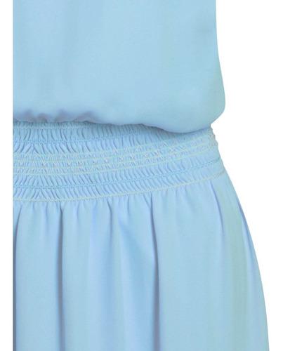 vestido feminino em crepe de alcinha bordado seiki 380316