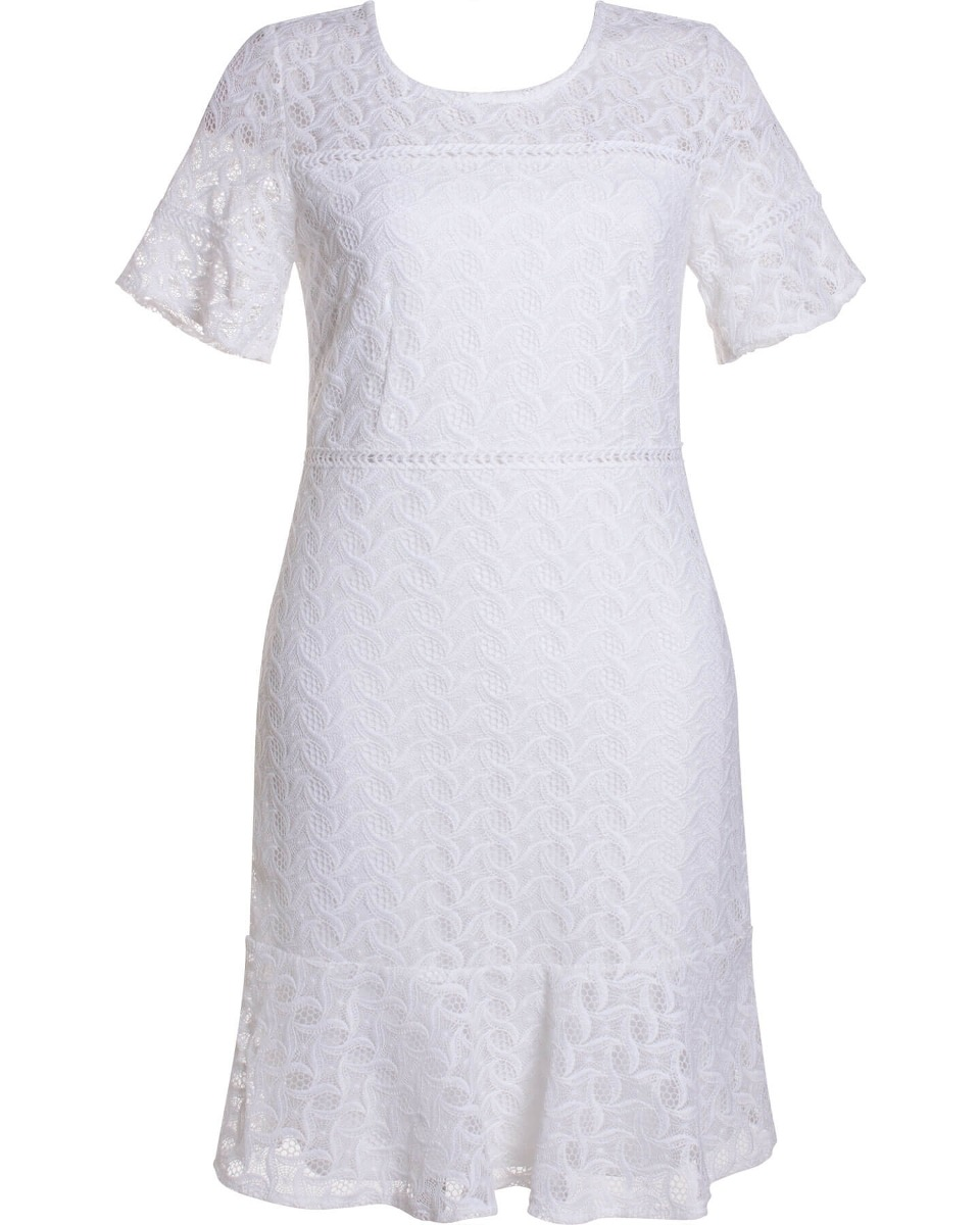 834e2a795 vestido feminino em renda guipir manga curta seiki 380375. Carregando zoom.