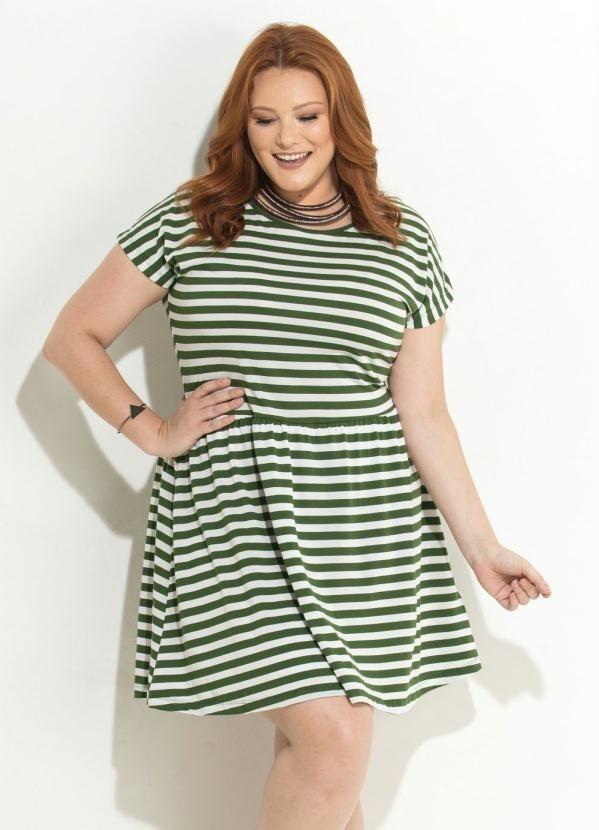 2182bc485a vestido feminino evasê listrado plus size verão promoção. Carregando zoom.