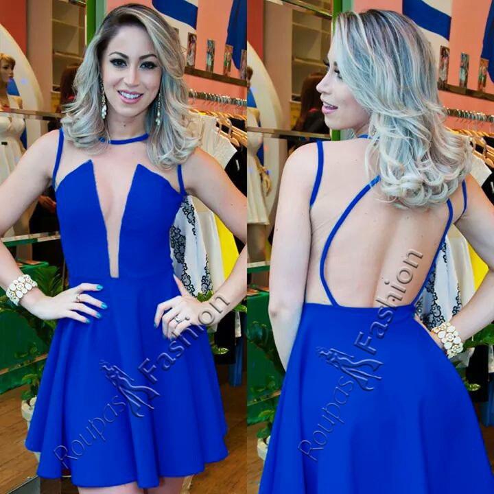 8576fd7bfc628 Vestido Feminino Festa Curto Rodado C/ Tule Panicat Balada - R$ 98 ...
