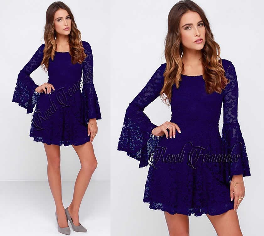 ff952a5b0 vestido feminino festa em renda c  manga panicat curto roupa. Carregando  zoom.
