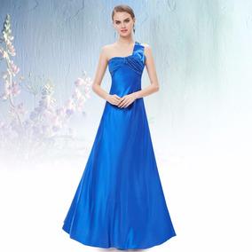 c3beb325e63c2 Vestido De Cetim Azul Royal - Vestidos Femeninos com o Melhores Preços no Mercado  Livre Brasil