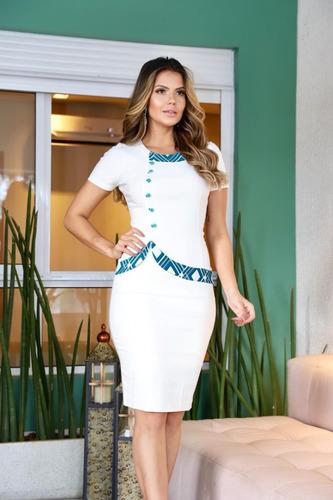 vestido feminino filomena lindo festa social moda evangélica