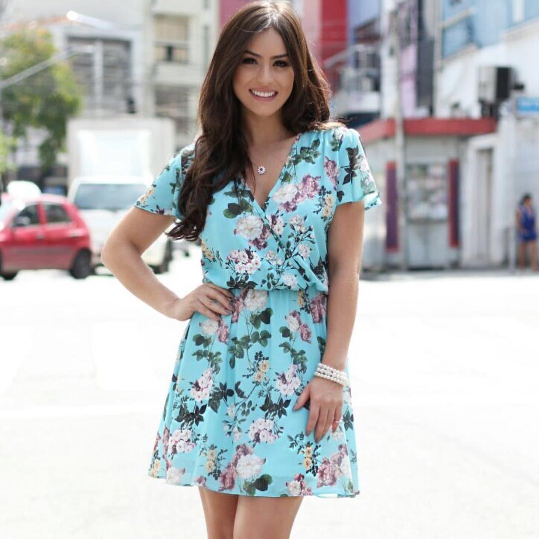34593ca0d1 vestido feminino floral doce flor com elastico na cintura. Carregando zoom.