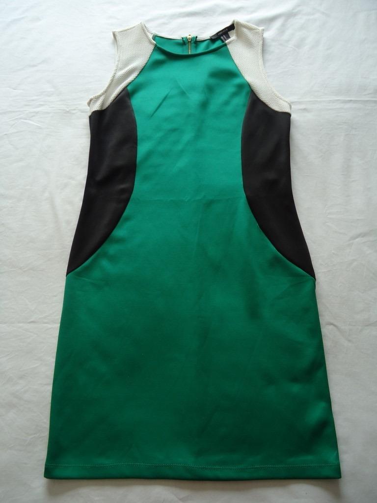 98783af9bd5 vestido feminino forever 21 verde preto sem manga m. Carregando zoom.