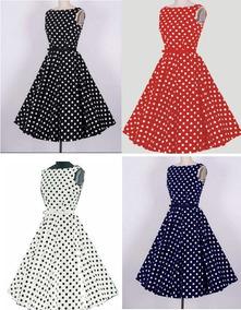 5e60f7560da9 Vestido De Bolinha Anos 80 - Vestidos Femininas Vermelho no Mercado Livre  Brasil