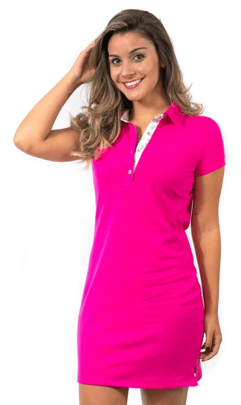 69544b7cba2934 Vestido Feminino Gola Polo Atacado - R$ 203,00 em Mercado Livre