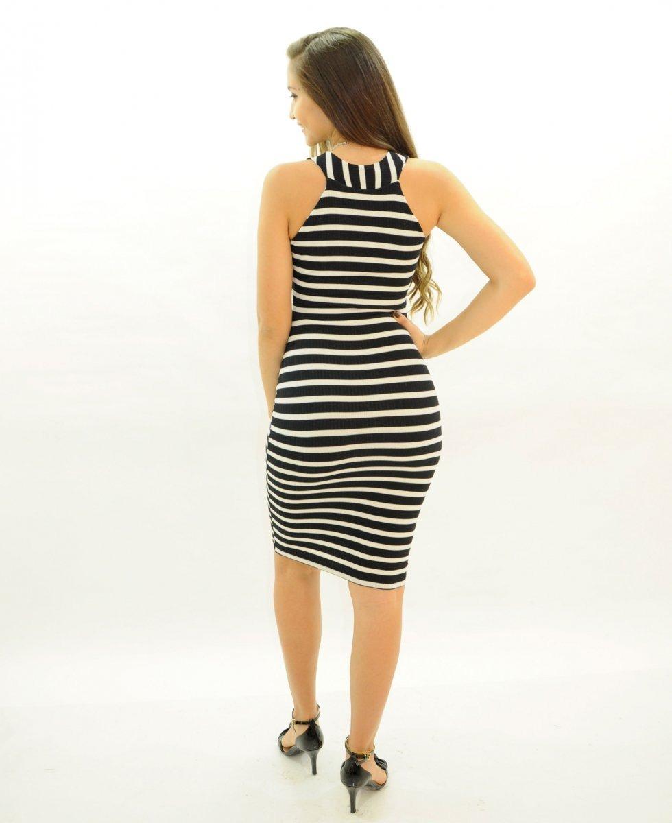 b3dd71a163 vestido feminino listrado malha canelada. Carregando zoom.