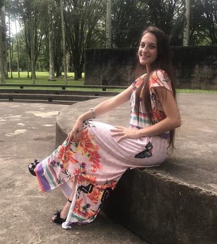 vestido feminino longo evangélico moda evangelica estampado