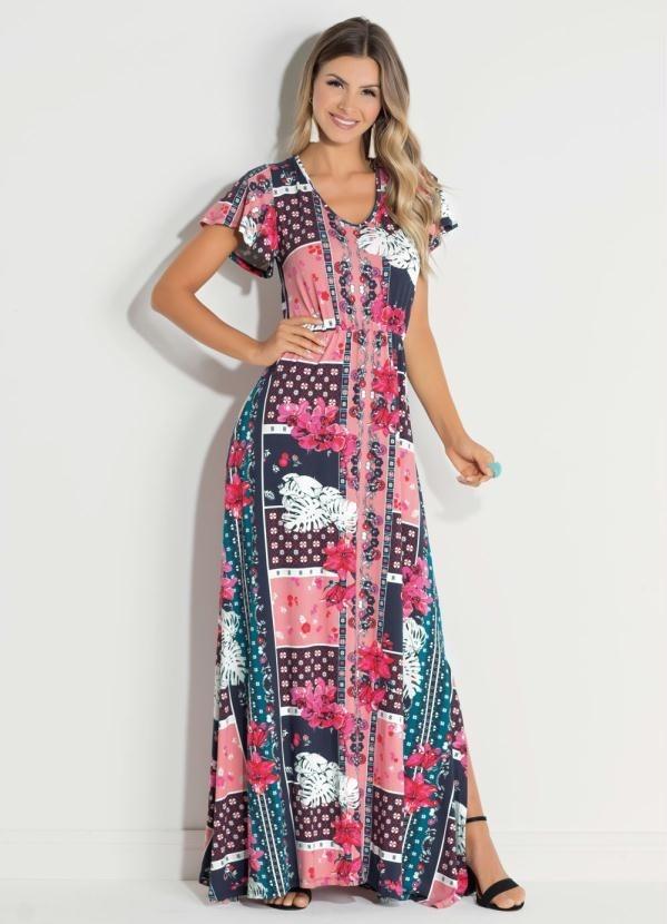 d3823e04680a vestido feminino longo manga evasê moda evangélica plus size. Carregando  zoom.