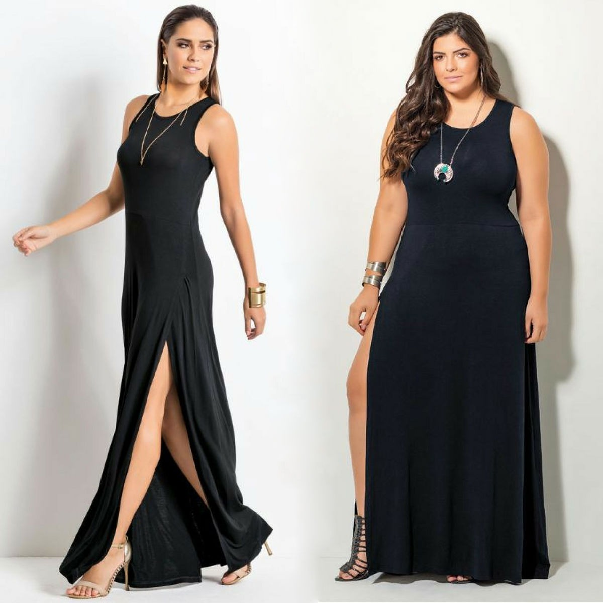 a557725365 vestido feminino longo moda plus size preto gordinha barato. Carregando  zoom.