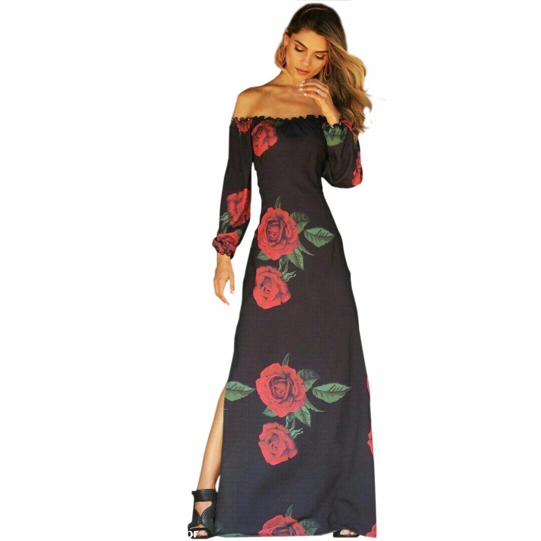 70fc75fc3 Vestido Feminino Longo Preto P