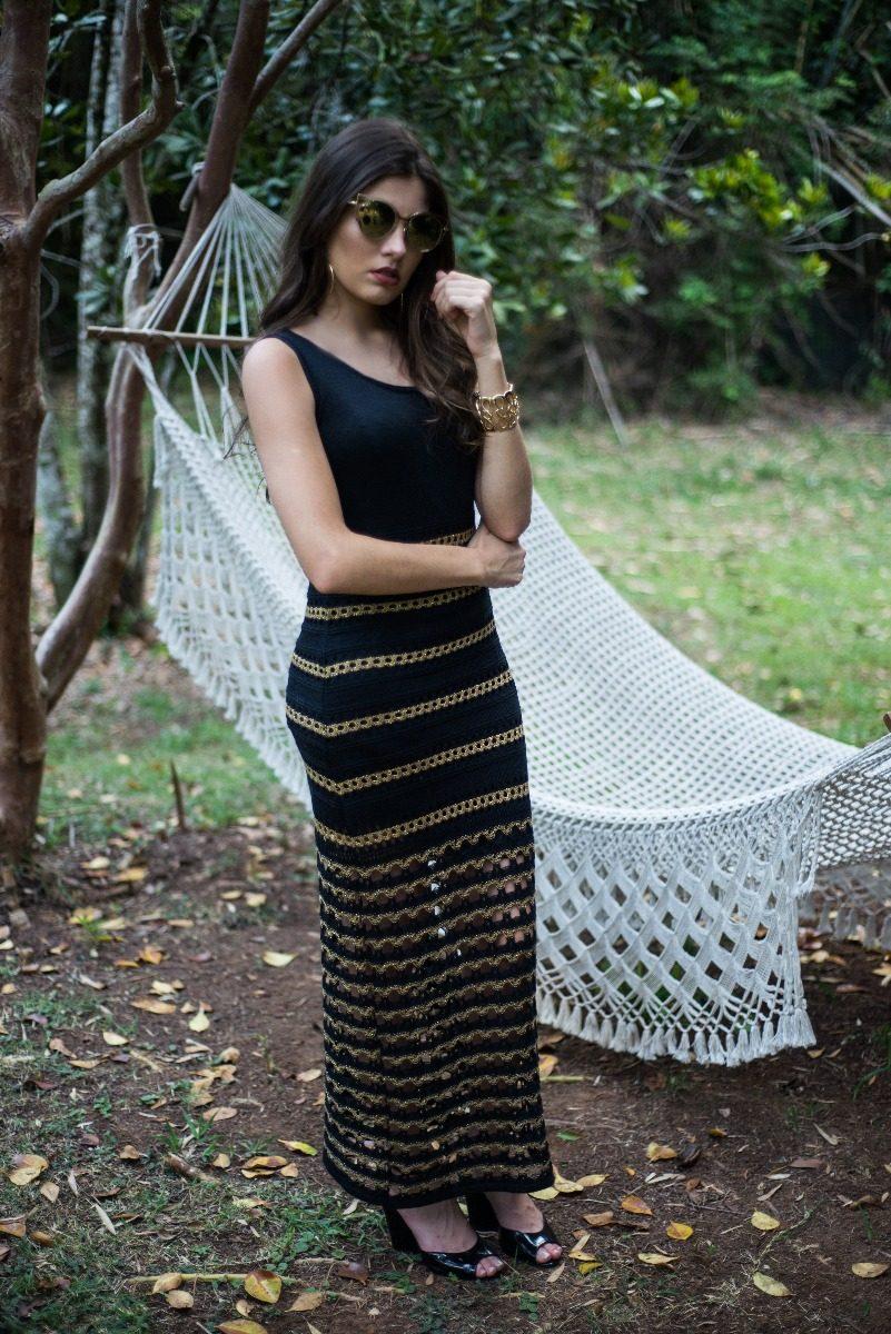 8cd5cbd5d90a vestido feminino longo tricot brilho promoção black friday. Carregando zoom.
