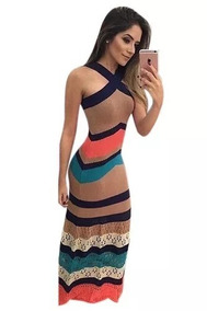 a1c9711f1 Vestidos Longos De Lista - Vestidos no Mercado Livre Brasil