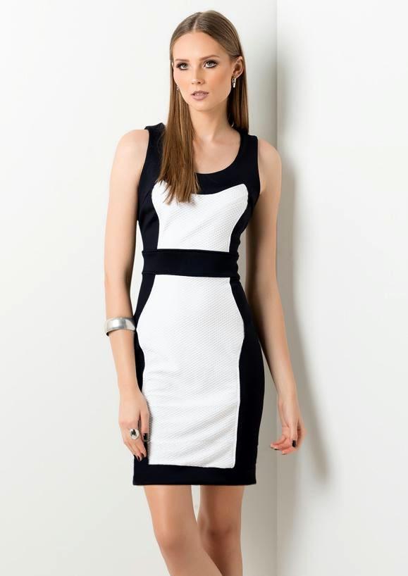 4c86ceee12 vestido feminino longuete clássico social preto e branco. Carregando zoom.