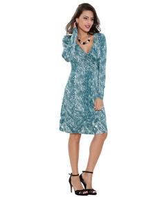 652ae0302 Vestido Tubinho Em Liganete Estampado - Vestidos Femeninos Curto com o  Melhores Preços no Mercado Livre Brasil