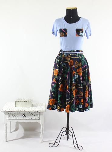 vestido feminino midi gode duplo moda evangélica rodado