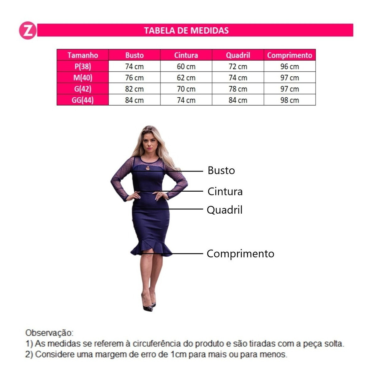 10966d795195 Vestido Feminino Midi Manga Longa Tule Festa Moda Evangelica - R$ 89 ...