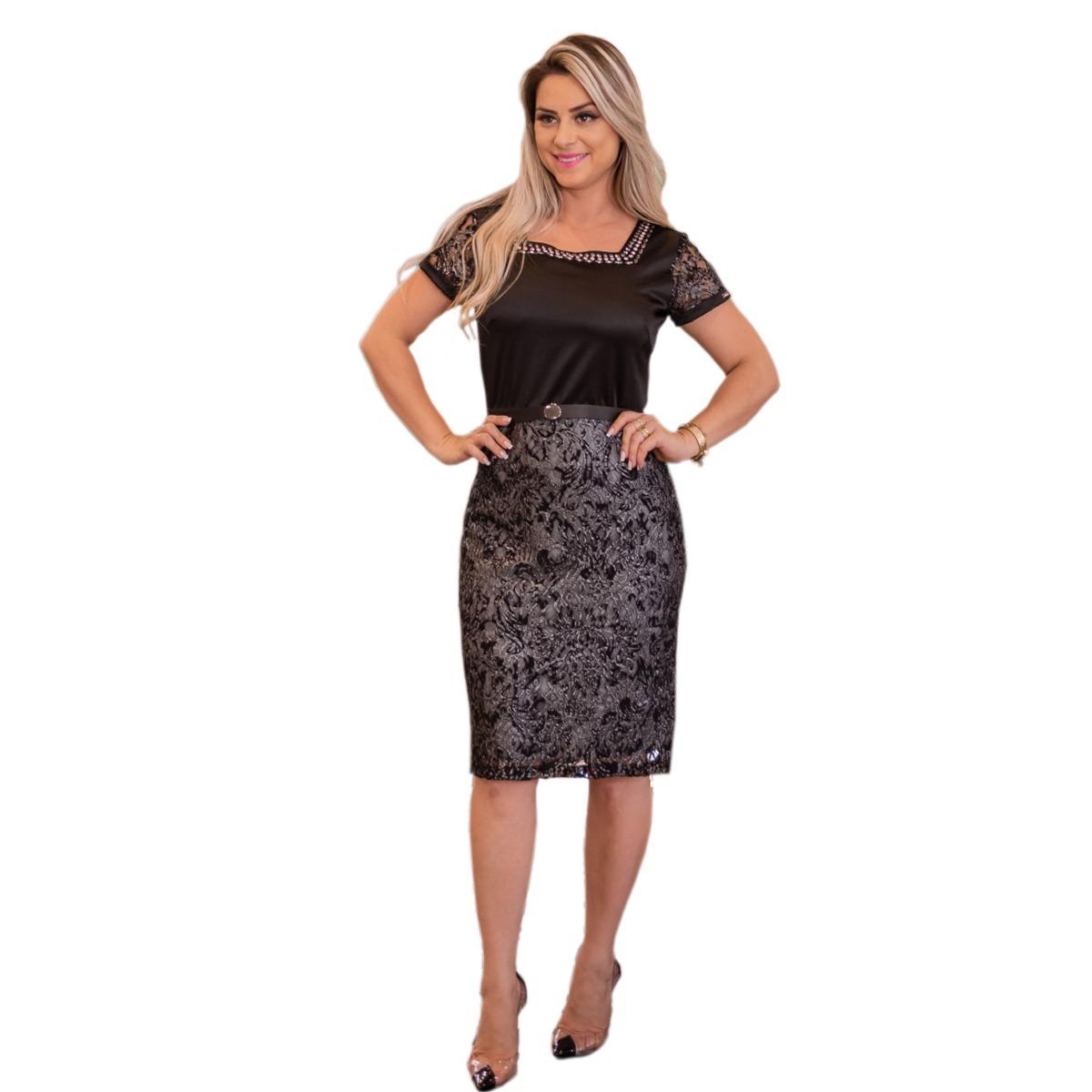 eb36f95a2 vestido feminino midi renda social festa moda evangélica. Carregando zoom.