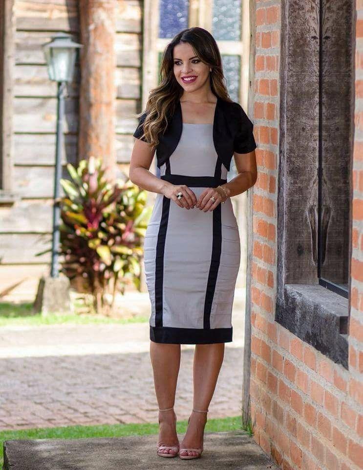 cc774dbd4 vestido feminino midi tubinho c bolero festa moda evangélica. Carregando  zoom.