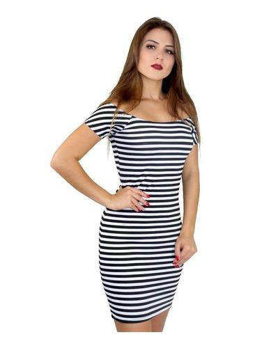 vestido  feminino ombro a ombro manga curta