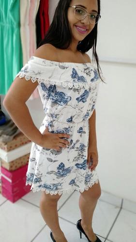 vestido feminino  ombro ciganinha verão 2018