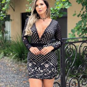 e5b48e6fd Vestido Elegante Renda - Vestidos Femininas no Mercado Livre Brasil
