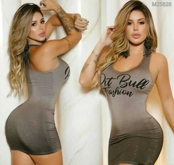 Vestido Feminino Pit Bull Jeans Ref. 25828 - R  299 047a2f03d4b