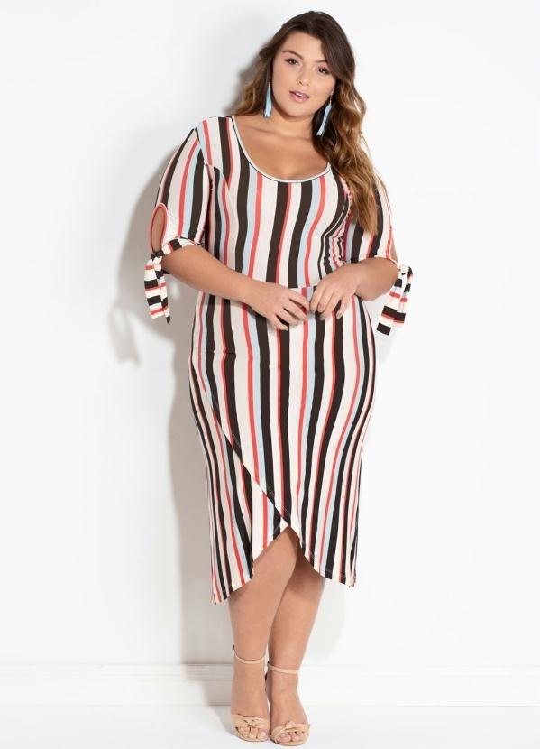 3f55a4ad0 vestido feminino plus size midi transpassado frete grátis. Carregando zoom.