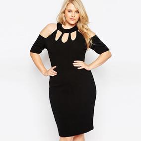 1f62200bd1 Vestido Feminino Plus Size Ombra A Ombro Tamanhos Grande Top
