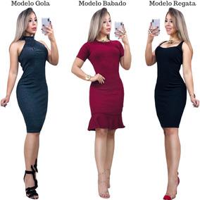 80c35e5105 Vestido Midi Preto - Vestidos Femininas no Mercado Livre Brasil