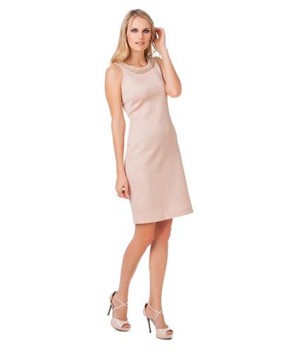 vestido feminino social tubinho com pérolas seiki nitrogem