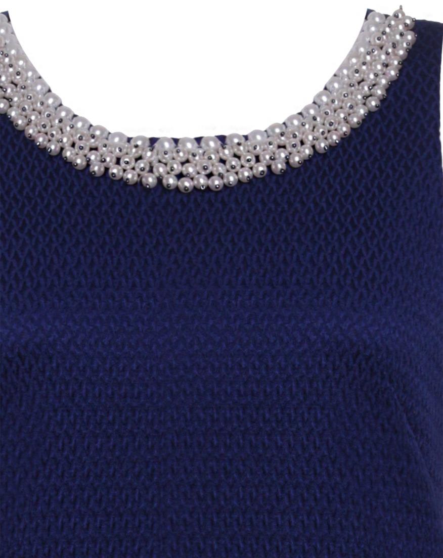 5146e0678d0d vestido feminino social tubinho com pérolas seiki nitrogem b. Carregando  zoom.
