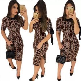 f4cda6588 Floratta Modas Vestidos - Vestidos Femeninos Marrom Curto com o Melhores  Preços no Mercado Livre Brasil