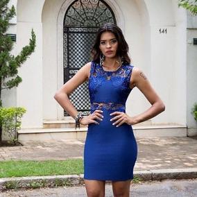 c4470a40f664 Vestido Tubinho Com Detalhes Na Renda - Vestidos com o Melhores Preços no  Mercado Livre Brasil