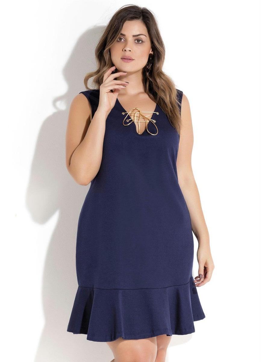 78b4ea680fbf vestido feminino tubinho midi babado gordinha plus size. Carregando zoom.