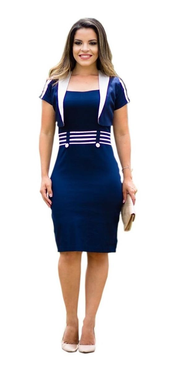 72160ee1f vestido feminino tubinho midi c bolero festa moda evangélica. Carregando  zoom.