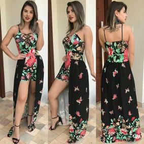 0241cb3f1 Vestido Transparente Short Bor Baixo - Vestidos Femininas no Mercado Livre  Brasil