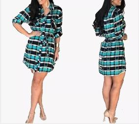 a6343a809b Chemise Xadrez - Vestidos Femeninos Casual com o Melhores Preços no Mercado  Livre Brasil