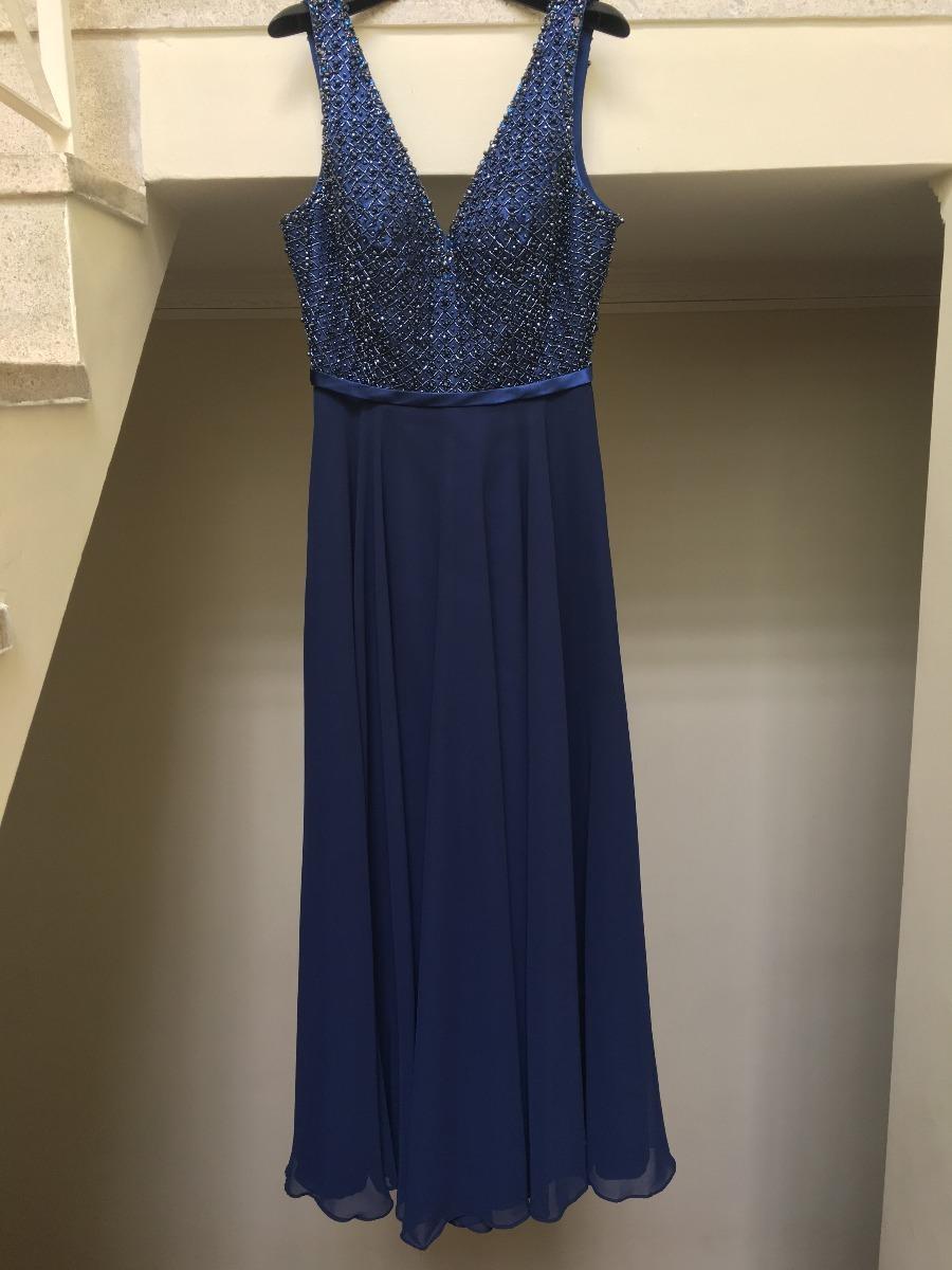 Vestido festa azul marinho