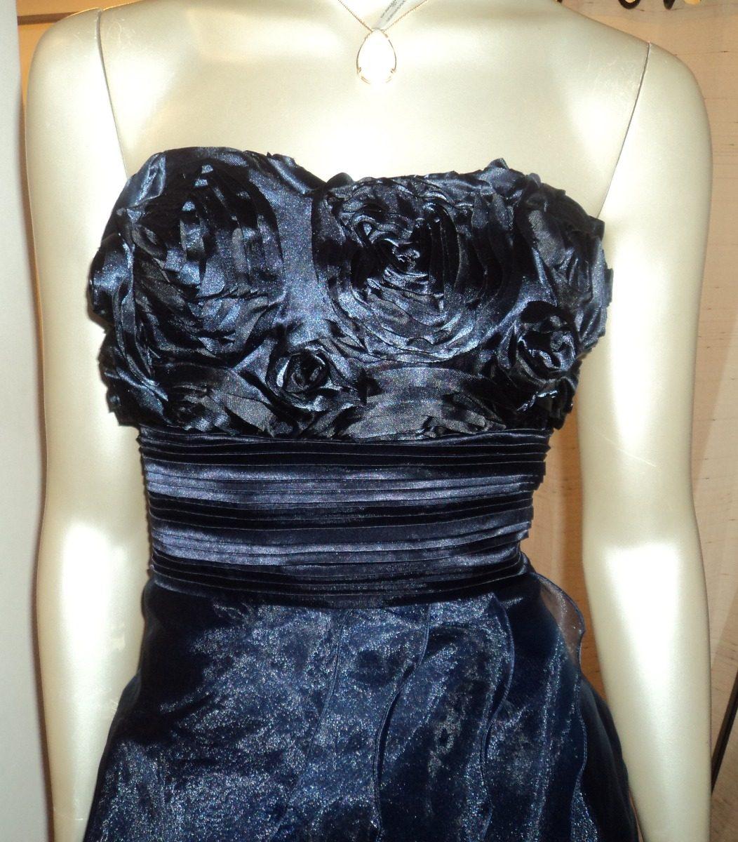 c0d074bfd5585 vestido festa azul marinho - madrinha e formatura - tam 38 p. Carregando  zoom.