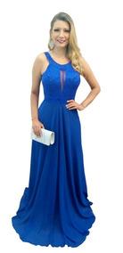6b3b6d782f490 Vestido De Madrinha De Casamento Azul Royal L - Vestidos com o Melhores  Preços no Mercado Livre Brasil