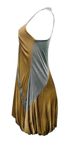 vestido festa balonê dourado e prata - daniele mabe p  (517)