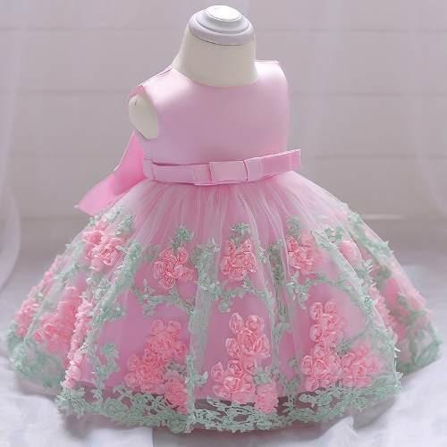 Vestido Festa Bebê Chuva De Amor Benção Carrossel Unicórnio