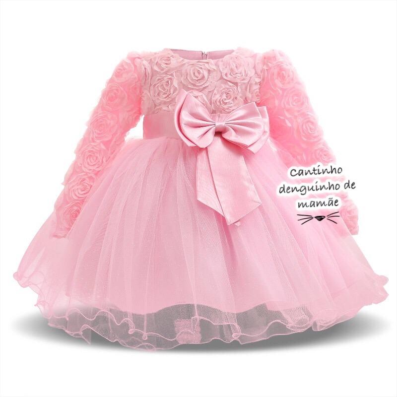 Vestido Festa Bebê Princesa Baby Neném
