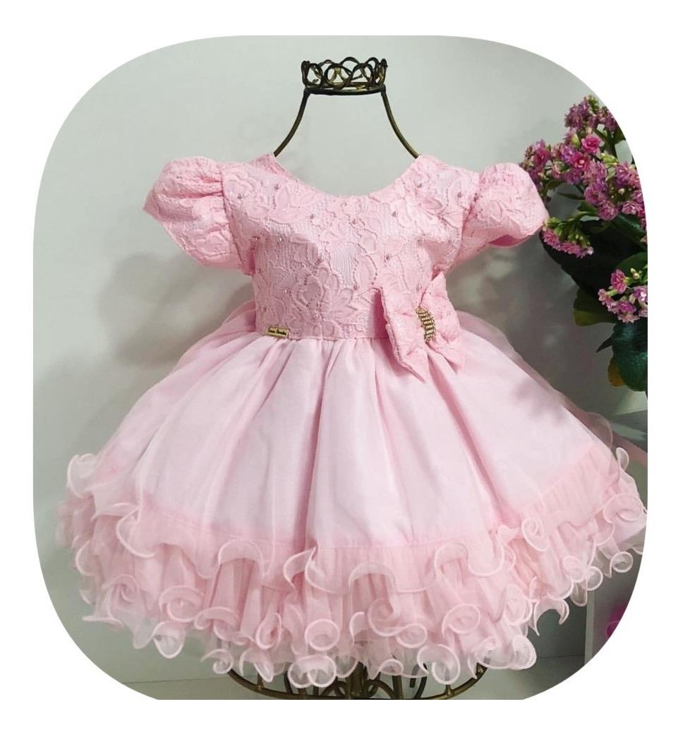 c65bff229 vestido festa bebê rosa princesa realeza menina bonita. Carregando zoom.